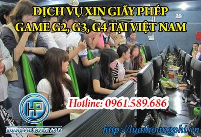 Dịch vụ xin giấy phép Game G2,G3,G4 tại Việt Nam
