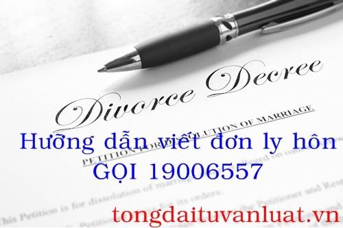 Hướng dẫn cách viết đơn ly hôn qua Tổng đài 19006557