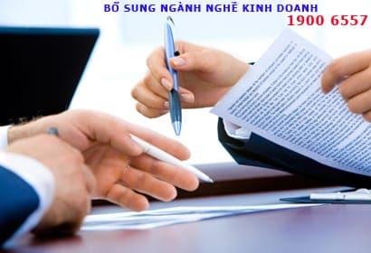 bổ sung ngành nghề kinh doanh