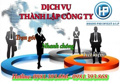 dịch vụ thành lập công ty toàn quốc