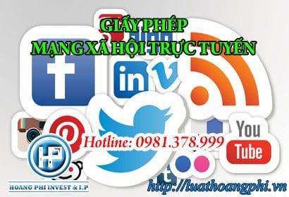 giấy phép mạng xã hội trực tuyến