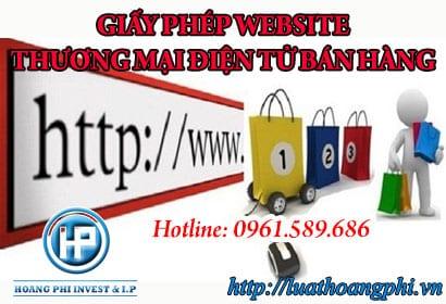 Giấy phép Website Thương mại điện tử bán hàng